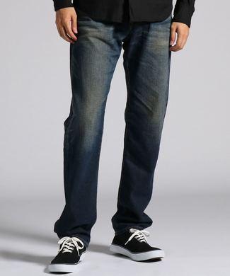 EDWIN 「E-STANDARD」ルーズストレートデニムパンツ メンズ 濃加工色