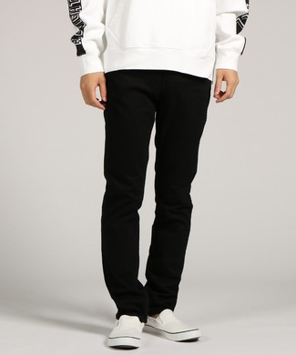 Levi's 【WEB限定】「LINE8」 スリムストレートデニムパンツ メンズ ブラック