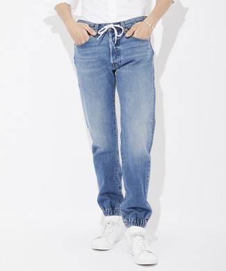 Levi's 「501」 デニムジョガーパンツ メンズ 濃加工色