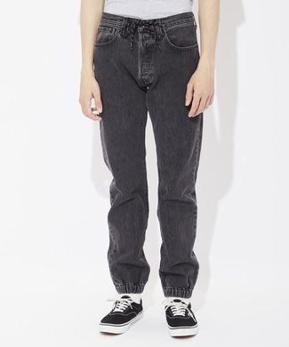 Levi's 「501」 デニムジョガーパンツ メンズ ブラック