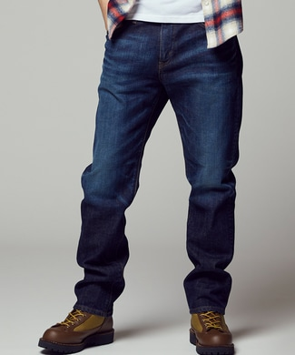 EDWIN 【自宅で試着、返品送料無料】「503」 レギュラーストレートデニムパンツ メンズ 濃加工色