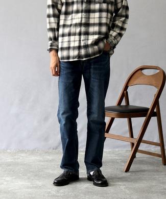 EDWIN 【自宅で試着、返品送料無料】「503」 レギュラーストレートデニムパンツ メンズ 淡加工色