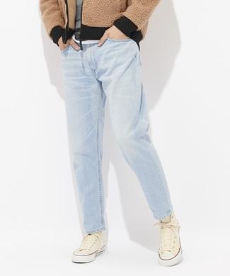 Lee 【WEB限定】テーパードデニムパンツ メンズ 淡加工色