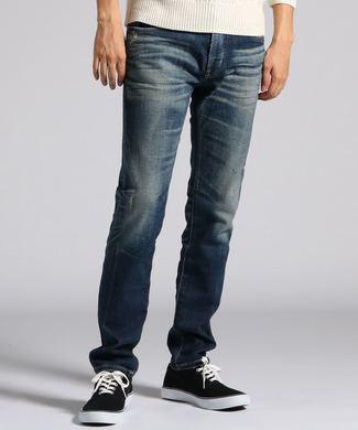 EDWIN 「E-STANDARD」スリムテーパードデニムパンツ メンズ 濃加工色