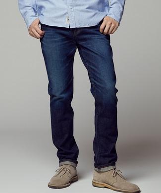 EDWIN 【自宅で試着、返品送料無料】「503」 スリムテーパードデニムパンツ メンズ 濃加工色
