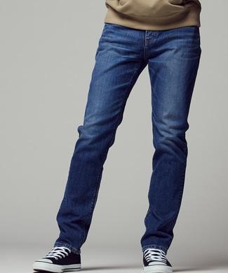 EDWIN 【自宅で試着、返品送料無料】「503」 スリムテーパードデニムパンツ メンズ 淡加工色