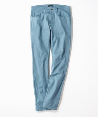 PLUS ONE 【WEB限定】24色スキニーパンツ メンズ【店舗裾上げ不可】 ターコイズ