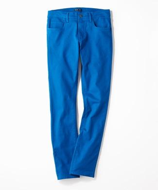 PLUS ONE 【WEB限定】24色スキニーパンツ メンズ【店舗裾上げ不可】 ブルー