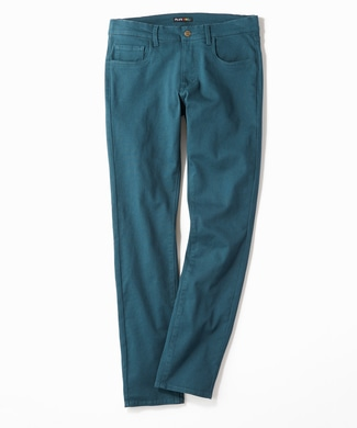 PLUS ONE 【WEB限定】24色スキニーパンツ メンズ【店舗裾上げ不可】 ケリーグリーン