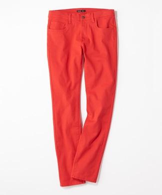 PLUS ONE 【WEB限定】24色スキニーパンツ メンズ【店舗裾上げ不可】 レッド