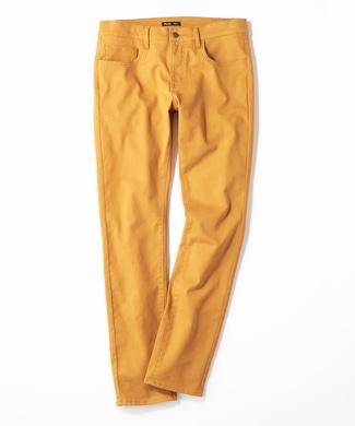 PLUS ONE 【WEB限定】24色スキニーパンツ メンズ【店舗裾上げ不可】 ダークイエロー