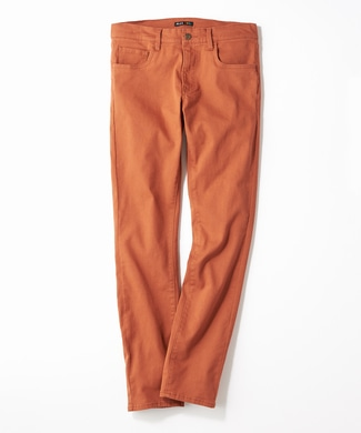 PLUS ONE 【WEB限定】24色スキニーパンツ メンズ【店舗裾上げ不可】 レンガ