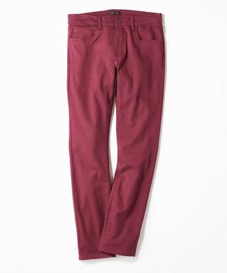 PLUS ONE 【WEB限定】24色スキニーパンツ メンズ【店舗裾上げ不可】 パープル