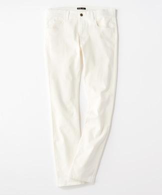 PLUS ONE 【WEB限定】24色スキニーパンツ メンズ【店舗裾上げ不可】 ホワイト