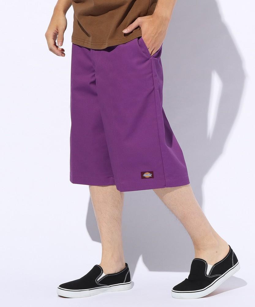 Dickies ワイドショートパンツ メンズ パープル