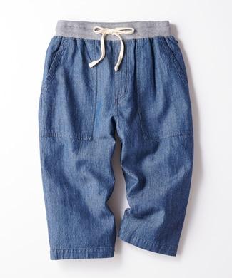 Other 【WEB限定価格】ウエストリブデニムクロップドパンツ メンズ 中濃加工色