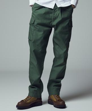 BACK NUMBER 「THE WORLD CARGO」 イギリス軍モデルコンバットトラウザーカーゴパンツ メンズ オリーブ