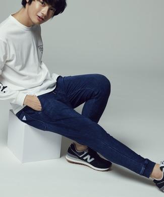 EDWIN 【自宅で試着、返品送料無料】「F.L.E」 インディゴジョガーパンツ メンズ 濃加工色