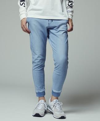 EDWIN 「F.L.E」 インディゴジョガーパンツ メンズ 淡加工色