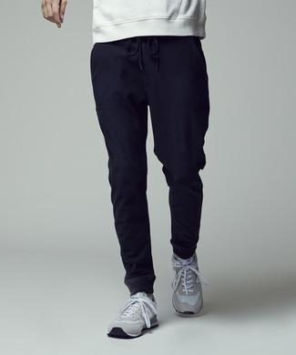 EDWIN 【自宅で試着、返品送料無料】「F.L.E」 インディゴジョガーパンツ メンズ ブラック