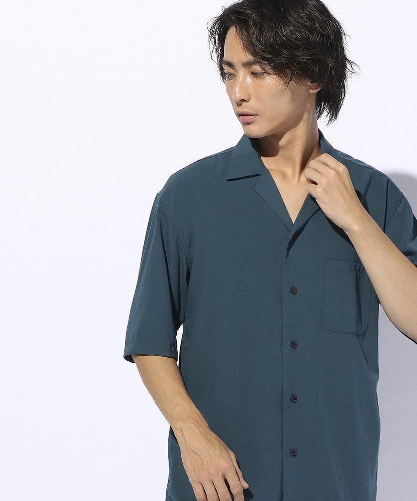 Time Flies スウェードライクシャツ メンズ ターコイズ