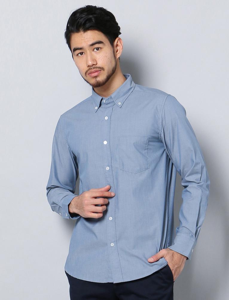 HARVARD シャンブレーシャツ メンズ 中濃色