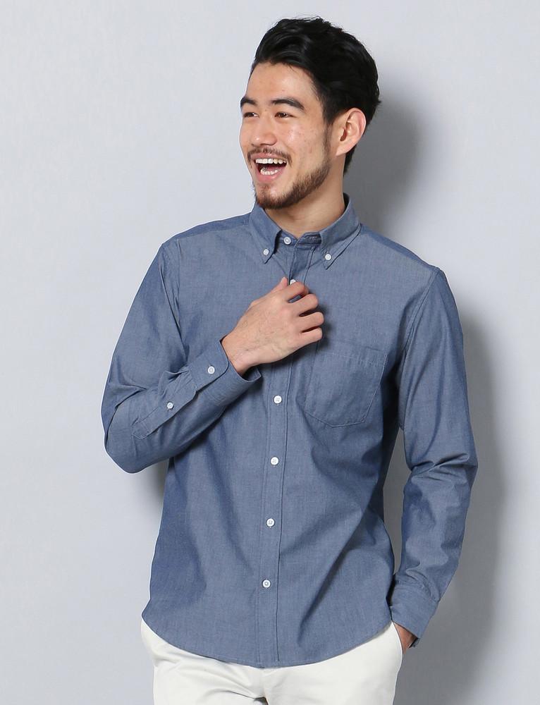 HARVARD シャンブレーシャツ メンズ 濃色