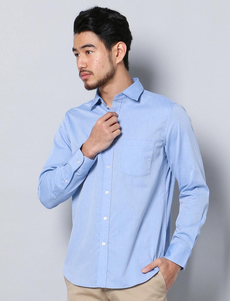 HARVARD ワイドカラーシャツ メンズ サックス
