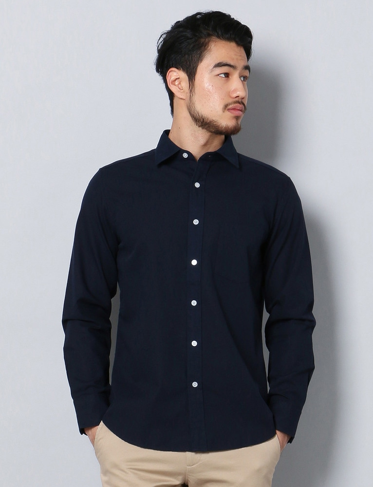 HARVARD ワイドカラーシャツ メンズ ネイビー