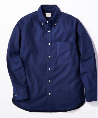 BACK NUMBER オックスボタンダウンストレッチシャツ メンズ ネイビー