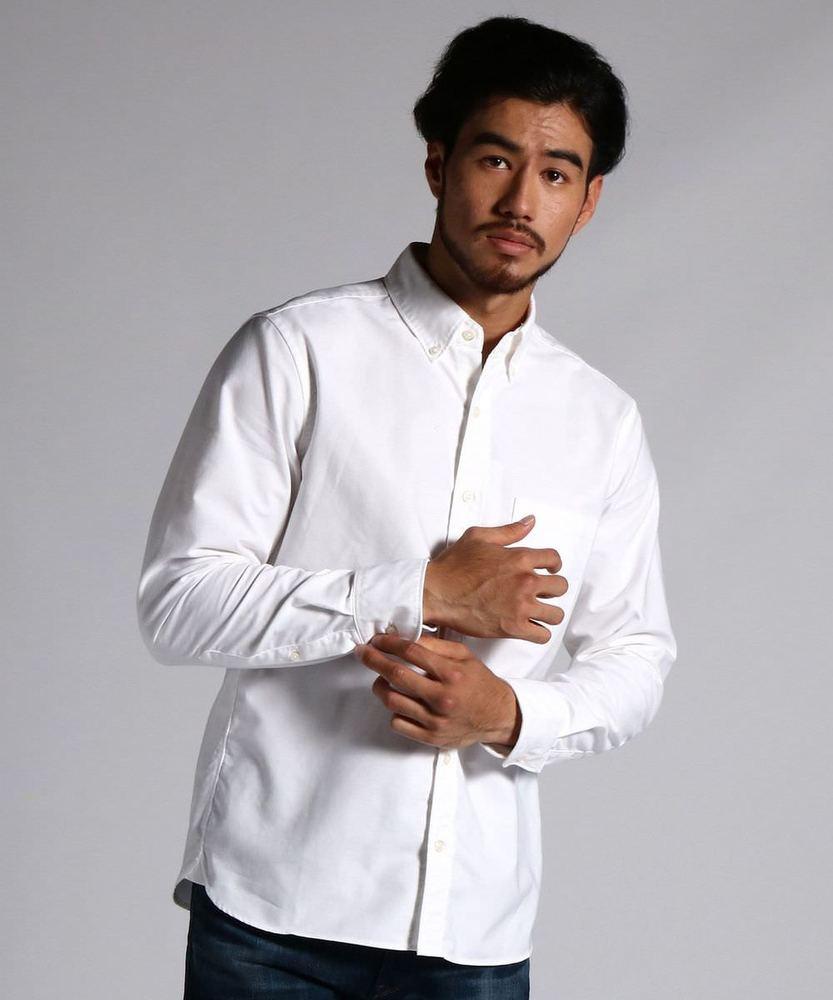 BACK NUMBER 日本製オックスシャツ メンズ ホワイト