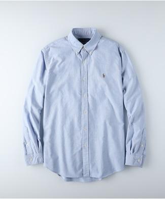 RALPH LAUREN POLO オックスフォードシャツ メンズ ブルー