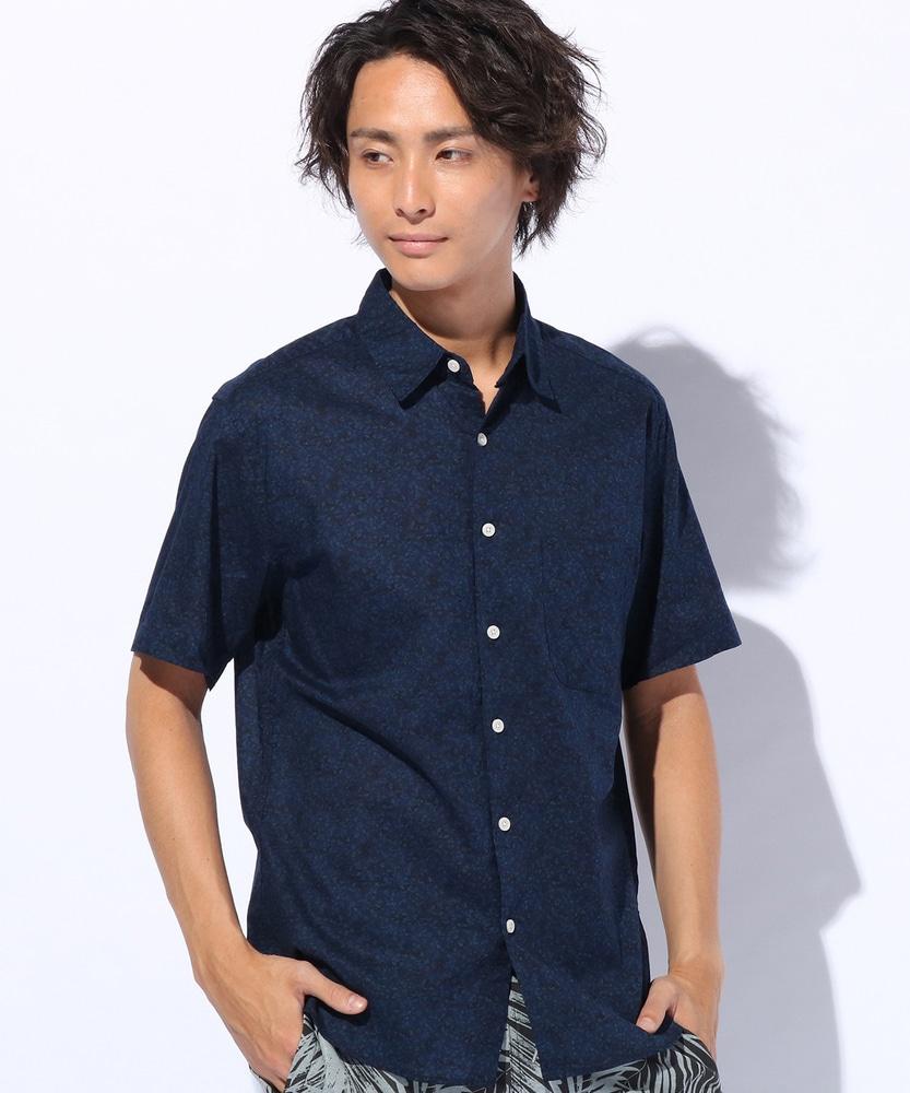 Trimmer 総柄シャツ メンズ ブルー
