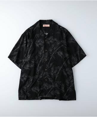 Kaluluwa アロハ柄シャツ メンズ ブラック*ホワイト