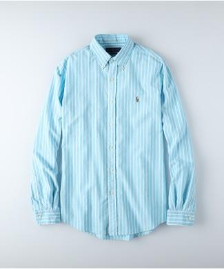 RALPH LAUREN POLO ストライプシャツ メンズ ブルー