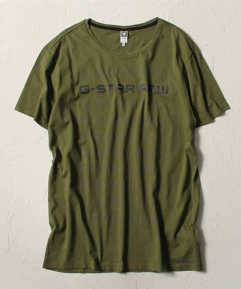 G-Star RAW グラデーションロゴTシャツ メンズ オリーブ