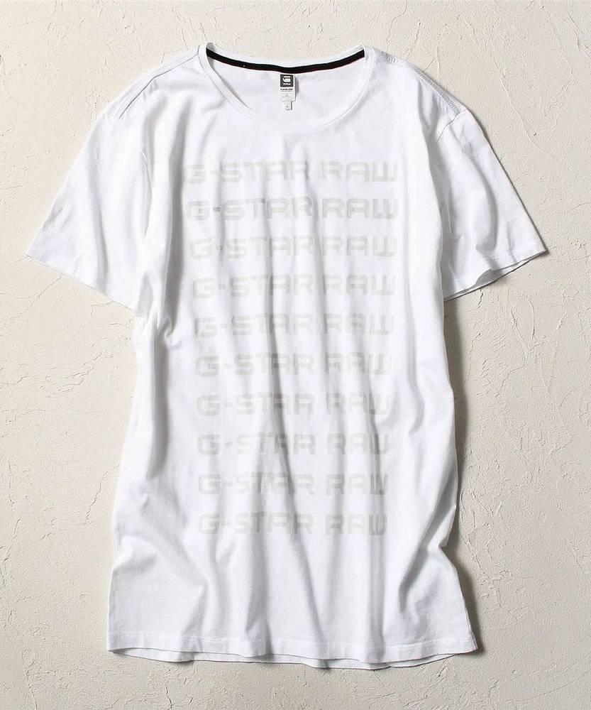G-Star RAW グラデーションロゴTシャツ メンズ ホワイト