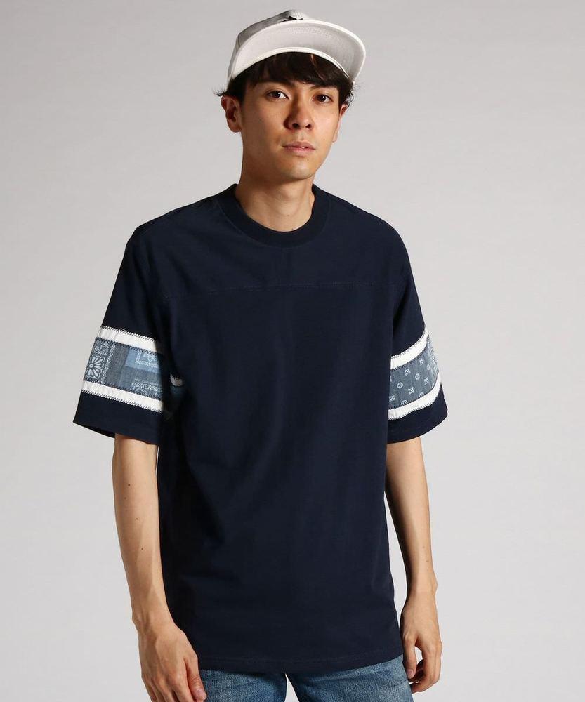 KRIFF MAYER 【WEB限定価格】袖切り替えフットボールTシャツ メンズ ネイビー