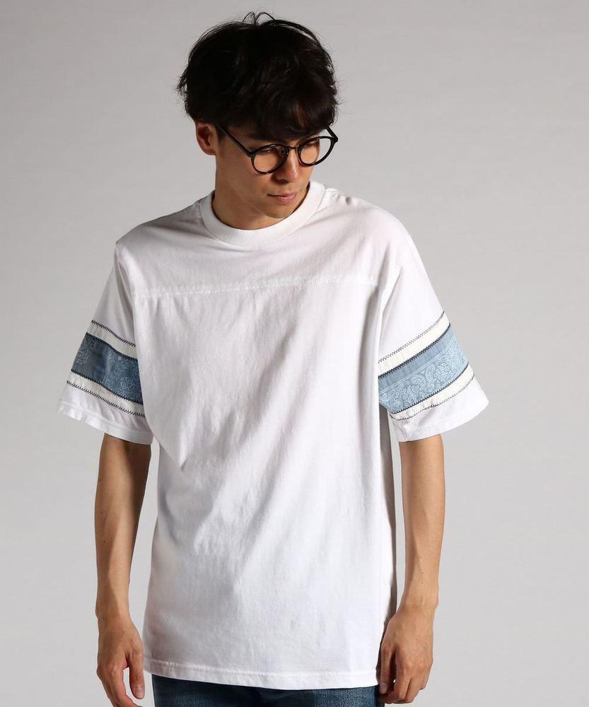 KRIFF MAYER 【WEB限定価格】袖切り替えフットボールTシャツ メンズ ホワイト