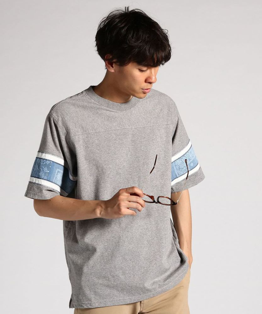 KRIFF MAYER 【WEB限定価格】袖切り替えフットボールTシャツ メンズ グレー