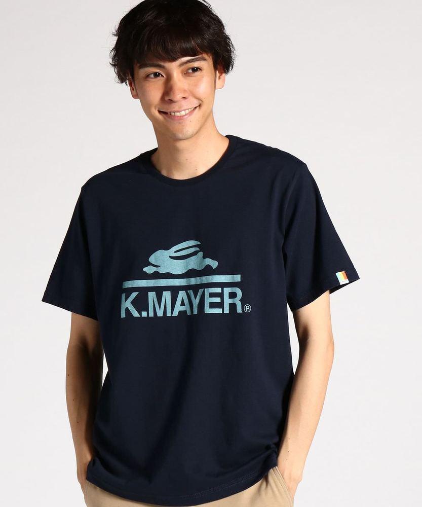 KRIFF MAYER 【WEB限定価格】ロゴプリントクルーネック半袖Tシャツ メンズ ネイビー
