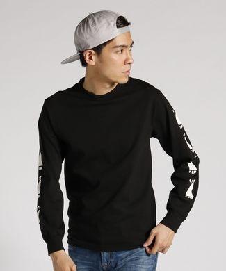 CAPTAIN FIN 【WEB限定価格】袖シャークフィンプリント長袖Tシャツ メンズ ブラック