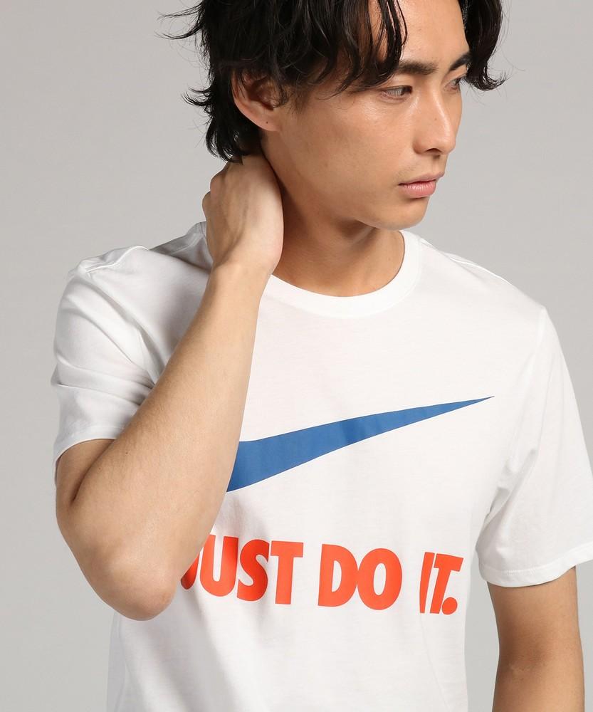 NIKE JUST DO IT.スウッシュロゴショートスリーブTシャツ メンズ ホワイト