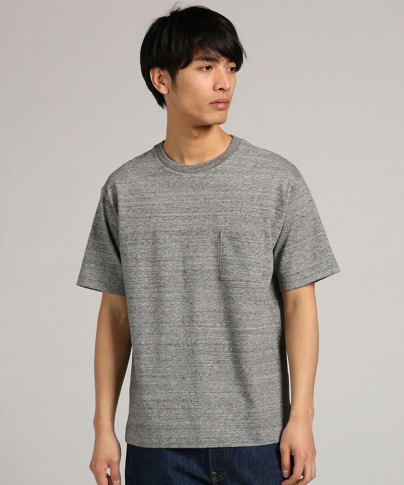 BACK NUMBER 「WASHI DENIM」和紙クルーネックTシャツ メンズ グレー