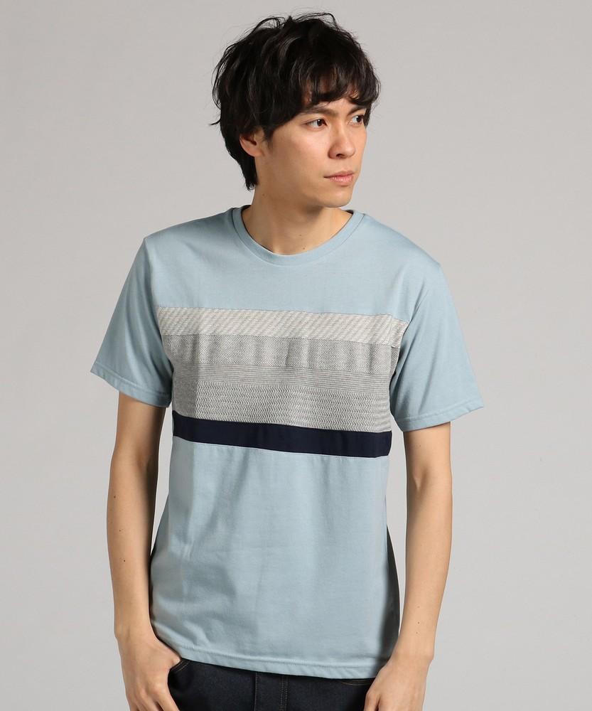 Other 切り替え半袖Tシャツ メンズ グリーン