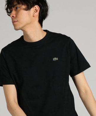 LACOSTE ワンポイントクルーネックショートスリーブTシャツ メンズ ブラック