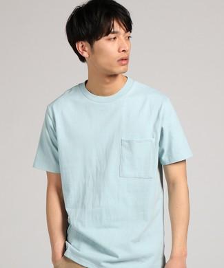 GOOD WEAR 【WEB限定】ポケット付きベーシックTシャツ メンズ サックス