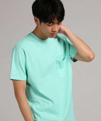GOOD WEAR 【WEB限定】ポケット付きベーシックTシャツ メンズ ライム