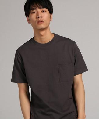 GOOD WEAR 【WEB限定】ポケット付キベーシックTシャツ メンズ ダークグレー