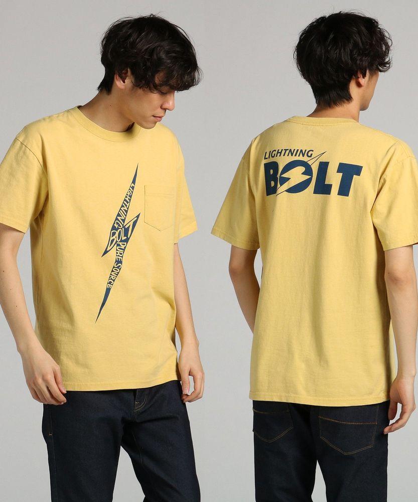 Lightning Bolt プリントTシャツ メンズ イエロー
